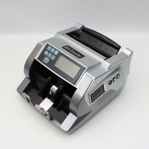 Money Bill Cash Counter Machine 3 Displays Currency Counterfeit Detector Uv