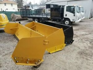 Snow Pusher Box Plow Skid Steer 10 Ft New