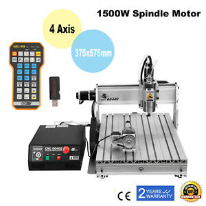 1500w 4axis Cnc Router 6040z 3d Engraver Usb Artwork Engraving Milling Machine