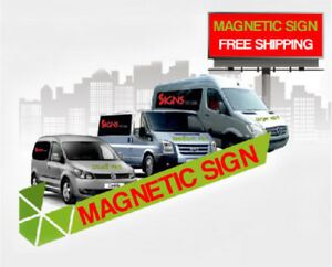 2 12x18 Custom Full Color Print Car Magnets Magnetic Auto Truck Signs