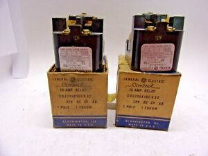 Lot Of 2 General Electric Cr2790e100 K 32 10amp Relay New