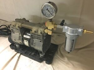 Thomas Industries Oil less Vacuum Pump Used To Run One Milking Machine
