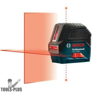 Bosch Gcl2 160 Self leveling Cross line Laser With Plumb Points New