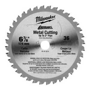 Milwaukee 48 40 4016 6 7 8 36 Teeth Ferrous Metal Circular Saw Blade New