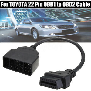 Diagnostic Scanner 22 Pin Obd1 To 16 Pin Obd2 Convertor Adapter Cable For Toyota
