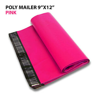 500 9x12 Poly Mailer Shipping Mailing Bag Envelopes Polybag Polymailer Hot Pink