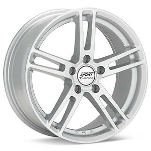 18x8 Bright Silver Paint Sport Edition P2