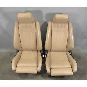 1987 1993 Bmw E30 3 Series Convertible Factory Sports Seat Pair Beige Vinyl Used