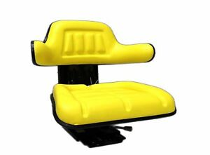 Tractor Seat Yellow John Deere Farm Tractors Universal Fit Suspension Seat