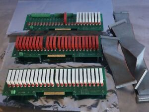3x Crouzet 57 278 j 24 Slot Relay Control Board With Ribbon Cables