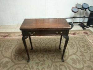 Beautiful Mahogany Card Game Table C 1700 Local Pick Up Only