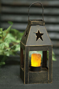 7 Reproduction Colonial Lantern Timer Candle Star Cut Out New Primitive