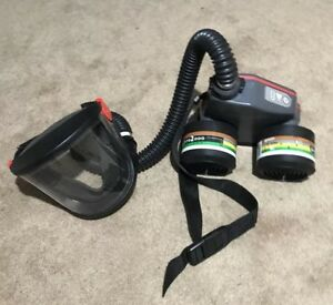 Air Respirator Full Face Mask With Battery Powered Air Flow By Scott Safety