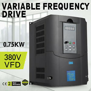 0 75kw 380v Variable Frequency Drive Vfd Close loop Single Phase Speed New