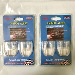 2sets 2 Holes Safety For Driver Car Sonic Deer And Animal Whistle Alert Wildlife