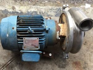 Centrifugal Pump 230 460v Stainless Steel Tag Has All Motor Specs