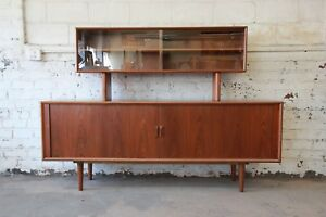 Ib Kofod Larsen For Faarup M Belfabrik Danish Modern Teak Credenza With Hutch