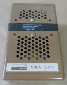 Sola Cvs 23 23 150 b Constant Voltage Transformer 500va 1 Phase 60hz