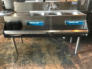 Krowne 48 3 Compartment Underbar Sink With Left Side Drain Board