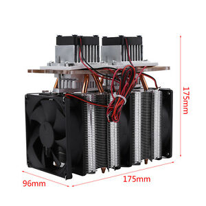 12v 144w Dual chip Semiconductor Peltier Cooler Air Cooling Dehumidification Js