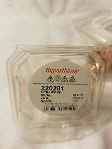 Hypertherm Genuine 220201 Hpr130 Hpr 260 Nozzle 45a Plasma Consumables New