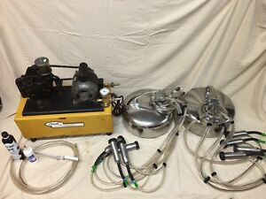 Conde Milking Machine Vacuum Pump And Balance Tank With Two Surge Bucket Milkers