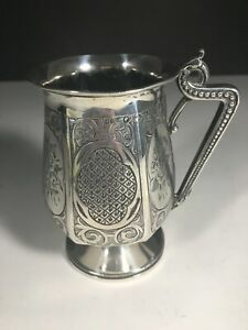 Highly Ornate Vintage Sterling Silver Child S Cup