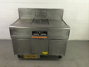 Frymaster Fmph155se Single Fryer With 2 Dump Stations With Filter Natural Gas