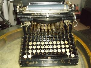 1904 Smith Premier No 2 Typewriter Functional Serial No 81854