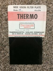 Vtg Nos Thermo Hardened Glass Plate Welding Lens Shade 14 4 1 2 X 5 1 4