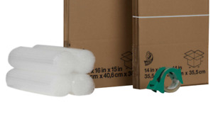Duck 17 piece Moving Kit Comes With Tape Bubble Wrap Medium And Large Boxes Box