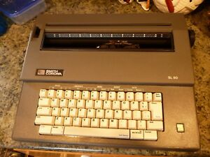 Smith Corona Sl80 Portable Electronic Typewriter W Cover Made In Usa