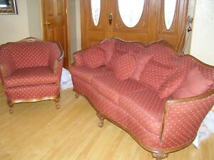 Antique Couch And Chair Manufactured Around 1930s Great Condition