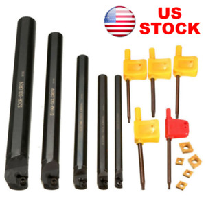 7 10 12 16 20mm Sclcr Lathe Boring Bar Turning Tool Holder 5 Ccmt060204 Inserts