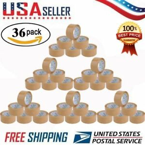 Packing Tape Yellow Packaging Shipping Tape 2 inches X 110 Yds Pack Of 36 Usa