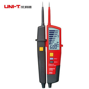 Uni t Ut18d Auto Range Voltage And Continuity Tester With Lcd Backlight Date
