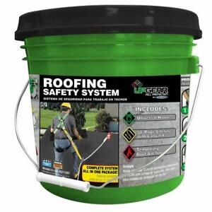 Roofing Safety System Complete Protection Universal Harness Lifeline no Tax