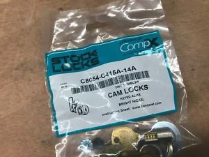 Compx National Cam Lock C8054 C415a 14a 1 7 16 New Bright Nickel Stock Locks