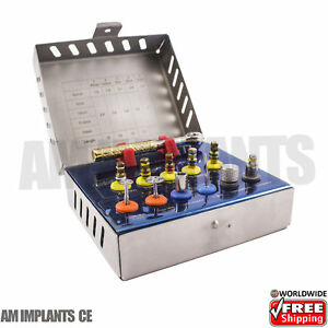 Implant Surgical Instruments Bone Expander Kit Dental Sinus Lift With Saw Disks