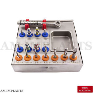 Implant Brand New Surgical Drill Kit 2x Drills Drivers Ratchet Dental Instrument