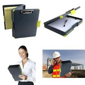 Duo Clipcase Clipboard Dual Sided Poly Storage Case And Organizer Green