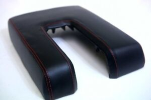 Console Center Armrest Synthetic Leather For Toyota Tundra 14 19 Red Stitch