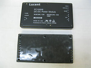 Lot Of 2 Lucent Fc100h9 Dc dc Power Module In 28vdc 4 2a Out 24vdc 4 2a 100w b5