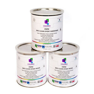 Clear Epoxy Resin 100 Solids High Gloss For Plywood concrete basements 3gal Kit