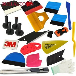 Car Wrap Vinyl Tools Kit Window Tint Installation 3m Squeegee Cutter Magnet Us