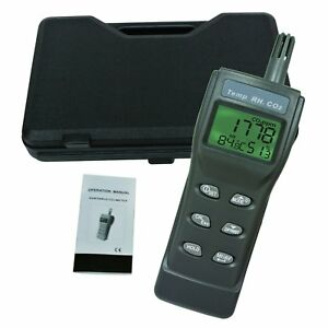 Digital Handheld Co2 Meter Air Quality Temperature Humidity Dew Point Wet Bulb