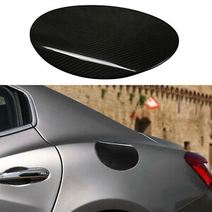 Car Styling Carbon Fiber Gas Tank Cap Cover Trim For Maserati Ghibli 2014 2017