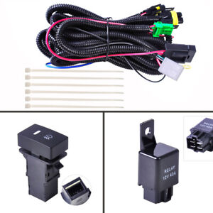 H11 Fog Light Wiring Harness Sockets Wire Led Indicators Switch 12v 40a Re