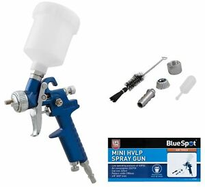 Bluespot Mini Touch Up Hvlp Gravity Feed Spray Gun 125ml Cup With 0 8mm Nozzle
