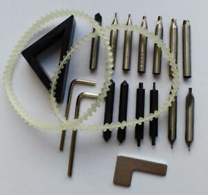 Set Cutters With Spare Part For Key Cutting Machine Drill Bit Locksmith Tool